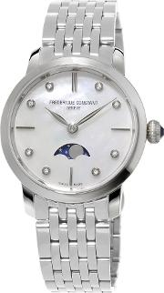 Women's Mother Of Pearl Dial Moon Phase Watch