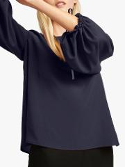 Crepe Puff Sleeve Blouse
