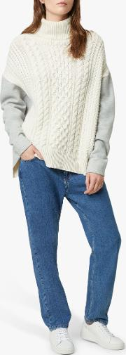 Soraya Cable Knit Roll Neck Jumper