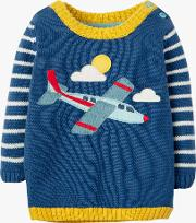 Baby Organic Cotton Plane Applique Jumper