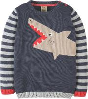 Boys' Elwood Shark Knit Jumper