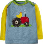 Baby Tractor Applique Top