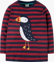 Children's Puffin Stripe Top