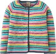 Girls' Milly Rainbow Knitted Cardigan