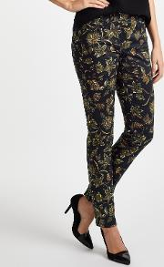 Zuri Slim Fit Printed Jeans