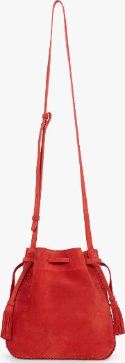 Moon Point Leather Cross Body Bag