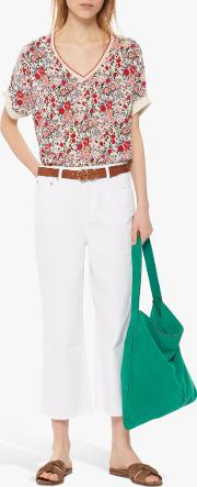 Nayla Flared Cropped Jeans