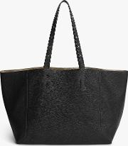 Simple Two Leather Tote Bag