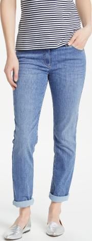 Perfect Fit Slim Leg Short Jeans