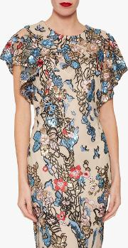 Annamaria Sequin And Embroidery Dress