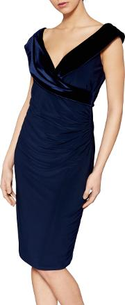 Catherine Velvet V Neck Dress