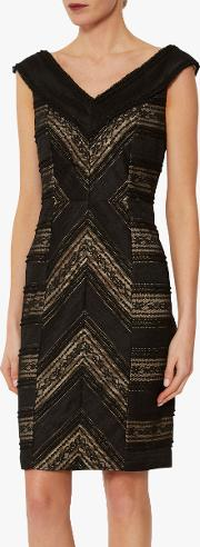 Flossie Panelled Lace Dress