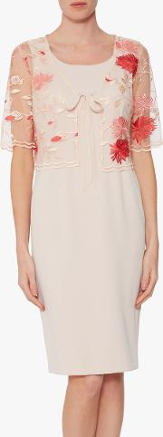 Patti Embroidered Floral Dress And Jacket