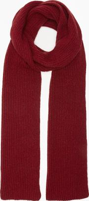 4bdd0523bd48f Rib Lambswool Scarf. gloverall for john lewis & partners