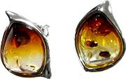 Amber And Sterling Silver Sunset Earrings