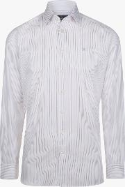 Two Colour Stripe Classic Fit Shirt