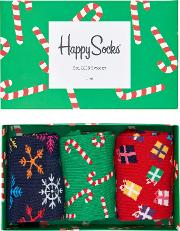 Christmas Socks, One Size, Pack Of 3
