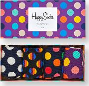 Dot Socks Gift Box, One Size, Pack Of 4