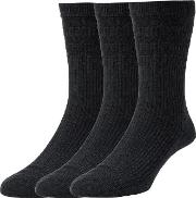 Cotton Softop Socks, Pack Of 3, One Size
