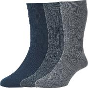 Wool Soft Top Socks, Pack Of 3