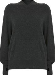 Cashmere Hooded Batwing Jumper