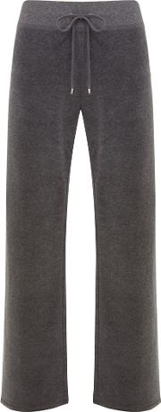 Velour Wide Leg Jogger Trousers