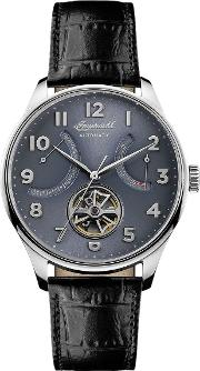 Men's The Hawley Automatic Date Heartbeat Leather Strap Watch