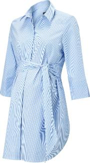 Dora Striped Maternity Shirt, Bluewhite
