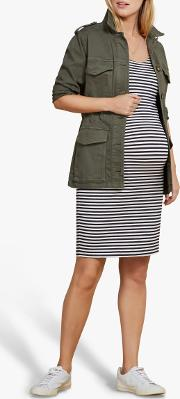 Gina Striped Maternity Dress