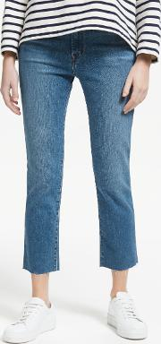 Ruby High Rise Straight Cropped Jeans