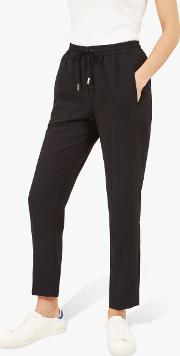 Crepe Drawstring Trousers