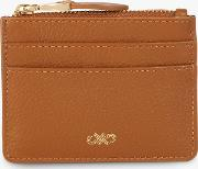 Leather Zip Top Card Holder