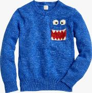 Crewcuts By  Boys' Max The Monster Crew Neck Jumper