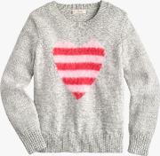 Crewcuts By  Girls' Furry Heart Jumper
