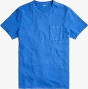 Garment Dyed Pocket Crew T Shirt
