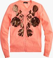 Sequin Floral Embroidered Cardigan