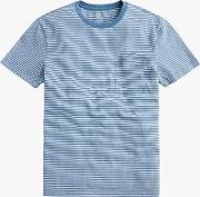 Timothy Stripe Washed Jersey Crew T Shirt