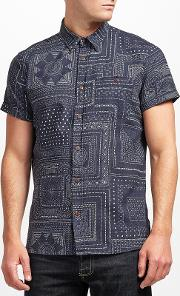 . Bandana Print Short Sleeve Shirt