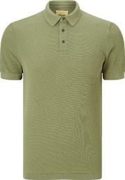 . Knitted Texture Polo Shirt