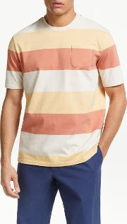 Ashbury Block Stripe Organic Cotton T Shirt