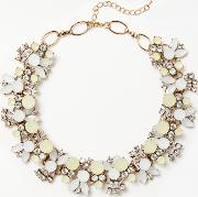 Coloured Stone Collar Necklace
