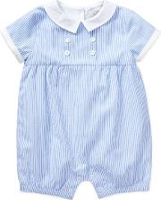 John Lewis Baby Heirloom Collection Stripe Romper