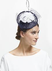 Camille Disc Feather Veil Fascinator