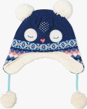 f3eccd1694667 Children's Owl Trapper Hat. john lewis & partners
