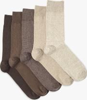 Cotton Rich Socks, Pack Of 5