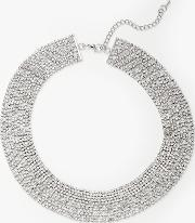 Flat Sparkle Crystal Collar Necklace