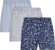 Floral Cotton Boxers, Pack Of 3