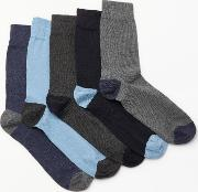 Heel And Toe Socks, Pack Of 5