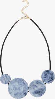 Marble Circle Statement Necklace