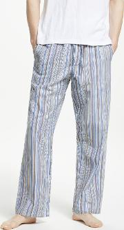 Oxford Multi Stripe Cotton Pyjama Pants